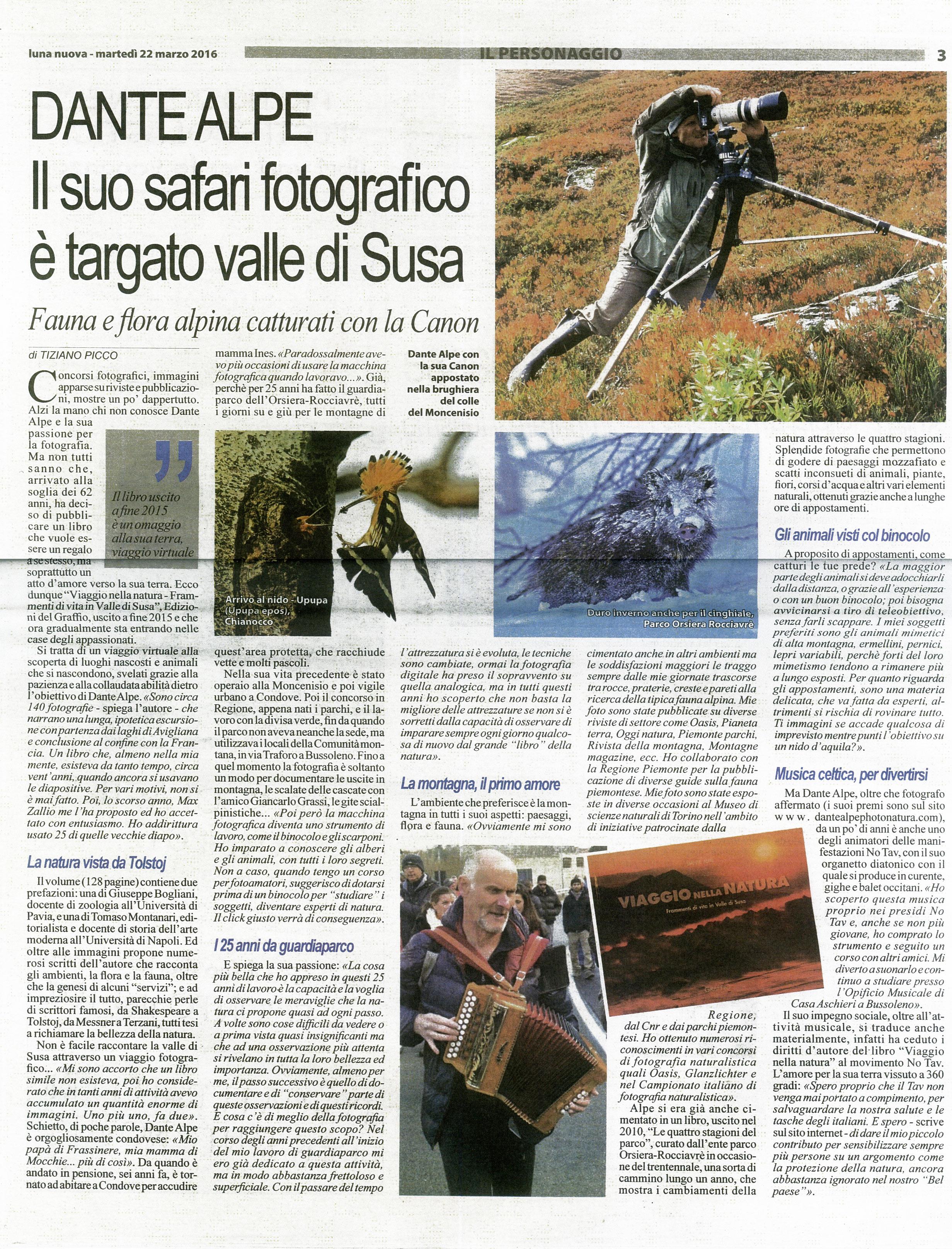 Dante Alpe su Luna Nuova