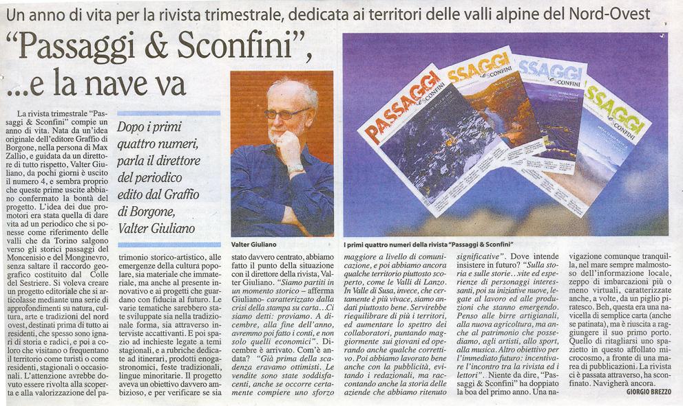 PASSAGGI e Sconfini